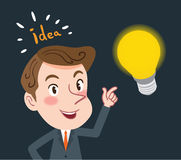 Drawing flat character design business idea concept Stock Images