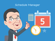 Drawing flat character design business management concept Royalty Free Stock Photos