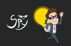 Drawing flat character design business spy concept Stock Photos