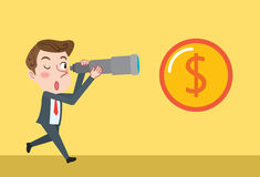 Drawing flat character design Business Strategy concept Royalty Free Stock Photography