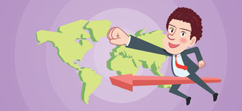 Drawing flat character design global business concept Royalty Free Stock Images