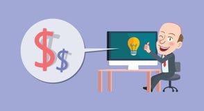 Drawing flat character design make money concept,. Drawing flat character design make money concept Stock Photo