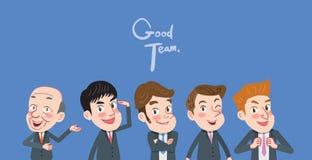 Drawing flat character design teamwork concept.  stock illustration