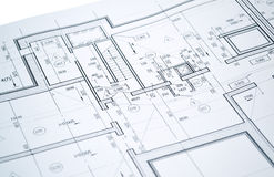 Drawing of the floor plan Royalty Free Stock Image