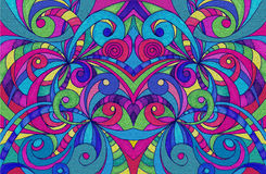 Drawing floral abstract background Stock Image