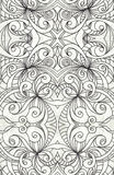 Drawing floral abstract background. Zentangle motif Stock Images
