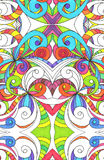 Drawing floral abstract background Stock Photo