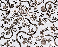 Drawing flower pattern with hand.flower on white background. Stock Photography