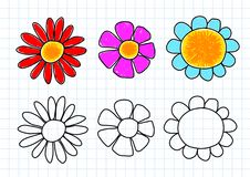 Drawing of flowers Stock Photo