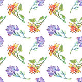 Drawing of flowers on paper Royalty Free Stock Photos