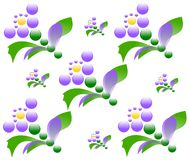 Drawing flowers seamless texture. stock illustration