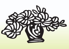 Drawing of flowers in vase  Royalty Free Stock Image