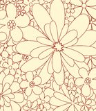 Drawing flowers vector Royalty Free Stock Photography
