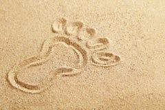 Drawing foot Stock Image