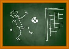 Drawing of footballer Royalty Free Stock Photos