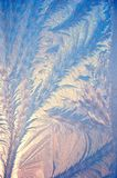 Drawing of the frost on glass. 1 stock photos