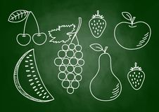 Drawing of fruits Stock Photography