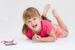 Drawing is fun Royalty Free Stock Images