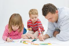 Drawing is fun Stock Images
