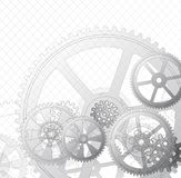 Gears on a white 01a. Drawing gears on a white background, vector illustration clip-art Royalty Free Stock Photo