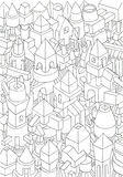Drawing of geometric forms on a paper Royalty Free Stock Photo