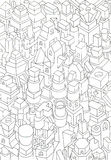 Drawing of geometric forms on a paper Royalty Free Stock Images