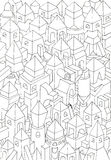 Drawing of geometric forms on a paper, illustration Royalty Free Stock Images