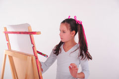 Drawing a girl Stock Image