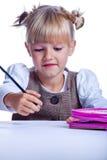 Drawing girl 2 Stock Photos