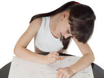 Drawing girl Stock Photography