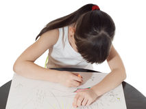 Drawing girl Stock Photo