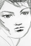 sketch of girl Royalty Free Stock Images