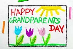 Drawing: Grandparents Day card with tulip