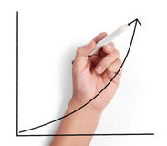 Drawing graph Royalty Free Stock Images