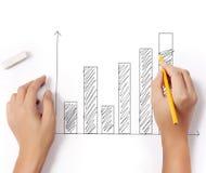 ? drawing a graph Royalty Free Stock Photos