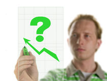 Drawing a graph Royalty Free Stock Photography