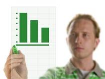 Drawing a graph - chart Royalty Free Stock Photo