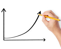 Drawing a graph Royalty Free Stock Images