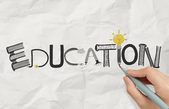 Drawing graphic design EDUCATION word Royalty Free Stock Photo