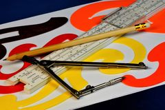 A tool for drawing lesson and creativity stock photo