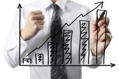 Drawing graphics  growing graph Stock Photos