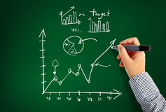Drawing graphs and charts. And Idea concept Stock Photo