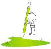 Drawing grass Stock Photos