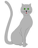 Drawing a gray cat Stock Photography