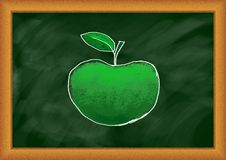 Drawing of green apple Royalty Free Stock Photo