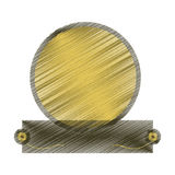 Drawing green badge empty emblem icon Royalty Free Stock Photography