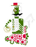 Drawing of the green robot Royalty Free Stock Photos