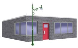 Drawing of Grey Building royalty free stock photo