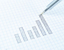 Drawing growth graph of success Royalty Free Stock Photo