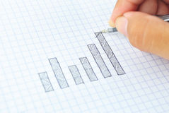 Drawing growth graph of success Stock Photo